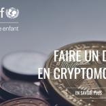 UNICEF Francia accetta criptovalute per le donazioni